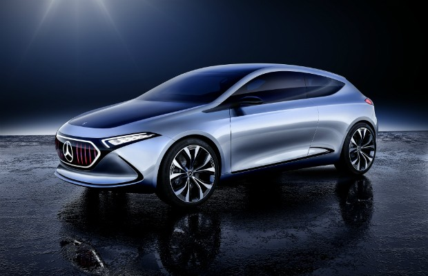 Mercedes-Benz Concept EQA, o primeiro veículo conceito EQ totalmente elétrico no segmento dos compactos (Foto: Divulgação)