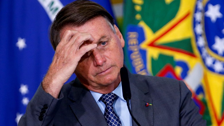 Presidente Jair Bolsonaro em cerimônia no Palácio do Planalto (Foto: REUTERS/Adriano Machado)