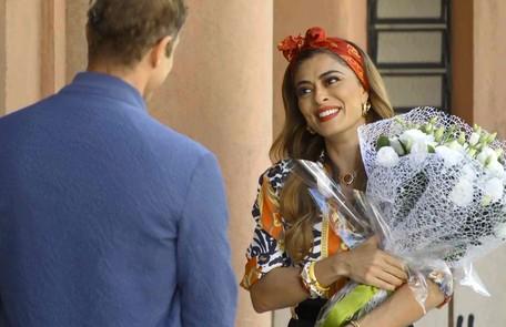 Na terça (9), Maria da Paz (Juliana Paes) e Régis (Reynaldo Gianecchini) vão se casar e Amadeu (Marcos Palmeira) sofrerá ao ver a cerimônia Reprodução