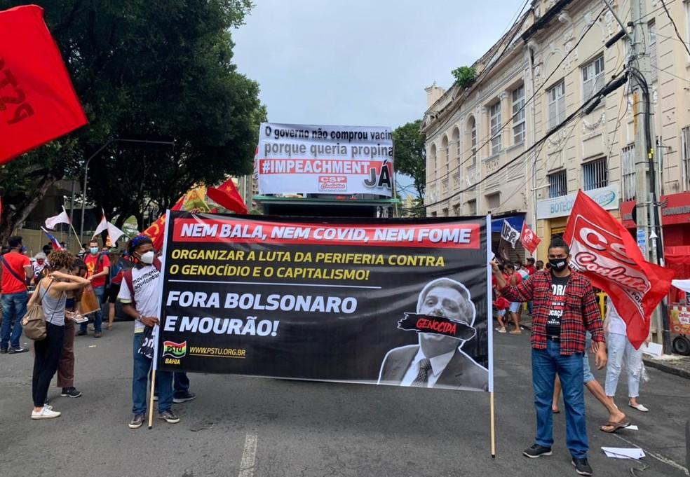 Protesto em Salvador contra o presidente Jair Bolsonaro — Foto: Divulgação/SINDJUFE-BA