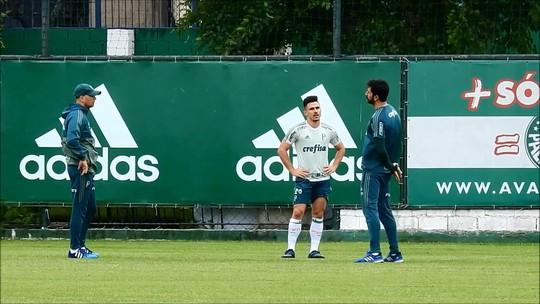 Palmeiras treina em campo apenas com reservas, e Willian faz teste físico