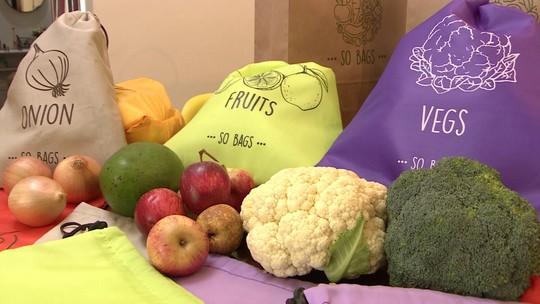 Sacos conservam legumes, frutas e verduras por mais de duas semanas na geladeira