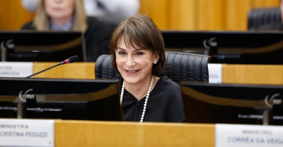 A presidente do TST, ministra Cristina Peduzzi. — Foto: Giovanna Bembom/TST