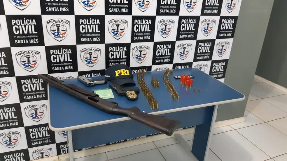 Bolsa com mais de 49 munições também foi encontrado em posse do sargento da PM do Maranhão — Foto: Divulgação/Polícia Rodoviária Federal do Maranhão (PRF-MA)