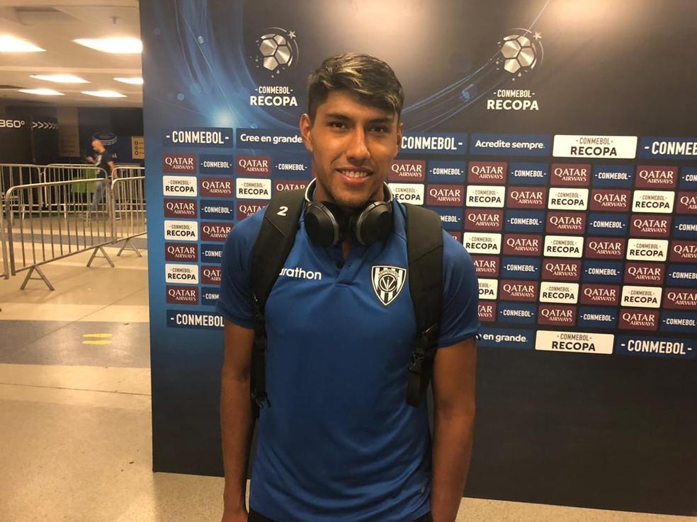 """Segovia se encantou com a primeira partida no Maracanã. E já pensa em """"fazer história"""" no próximo duelo com o Flamengo — Foto: Raphael Zarko"""
