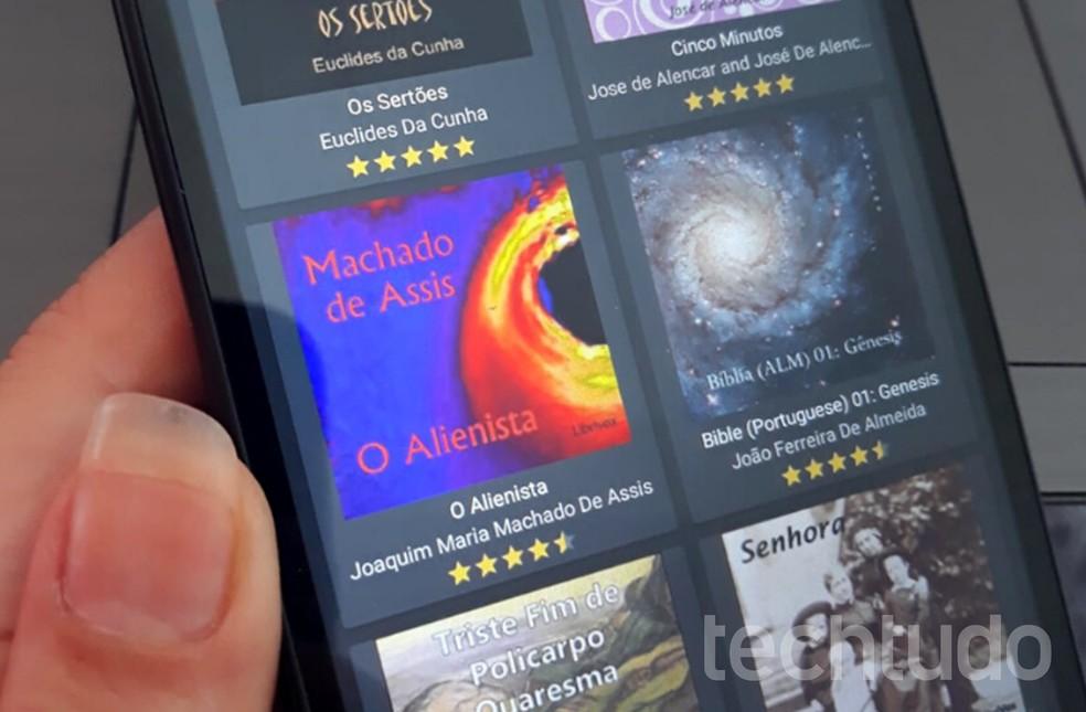 Apps têm os melhores audiobooks para baixar e ouvir em qualquer lugar — Foto: Graziela Silva/TechTudo