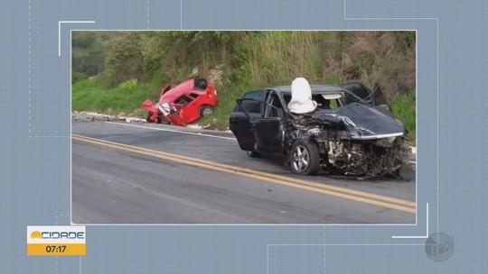 Jovem de 21 anos morre e três ficam feridos em acidente entre Carvalhos e Seritinga, MG