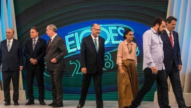 Um dos elementos novos dessa eleição é o fim do ciclo PSDB-PT, que dominou as disputas presidenciais nos últimos 24 anos. O atual candidato do PSDB, Geraldo Alckmin, não conseguiu deslanchar e aparece em quarto lugar nas pesquisas de intenção de voto (Foto: DANIEL RAMALHO/AFP)