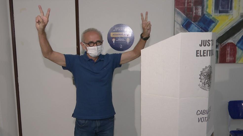 Cícero Lucena (PP), foi eleito prefeito de João Pessoa — Foto: Reprodução/TV Cabo Branco