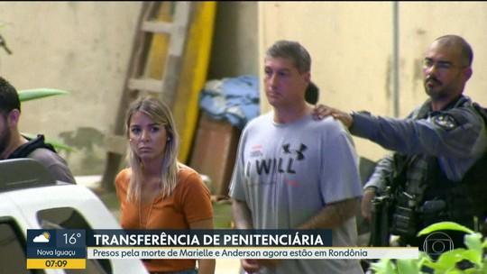 Presos pela morte de Marielle e Anderson são transferidos para penitenciária em Rondônia