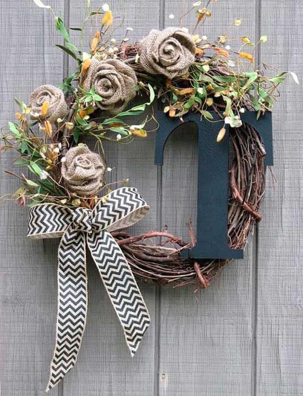Guirlandas: Flores de tecido (Foto: Pinterest/Reprodução)