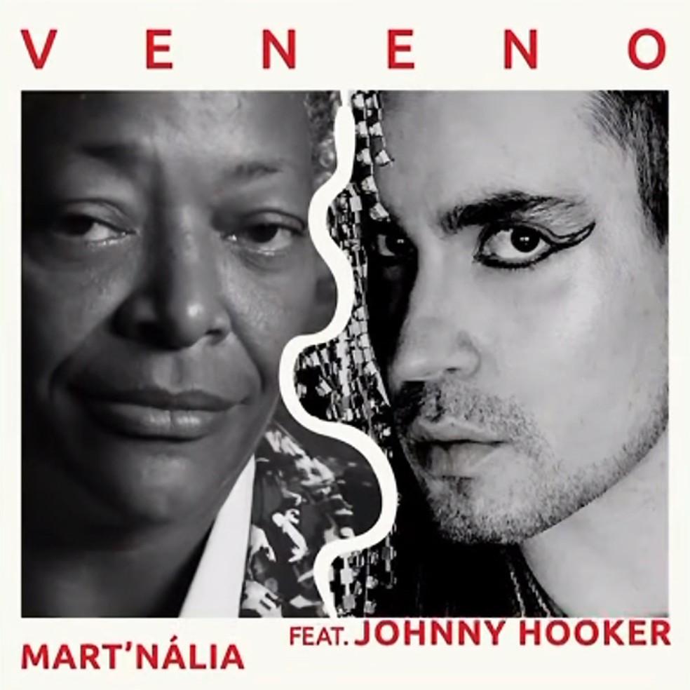 Capa do single 'Veneno', de Mart'nália e Johnny Hooker — Foto: Reprodução