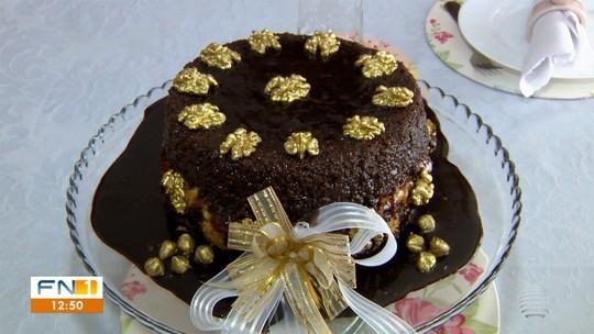Torta de nozes é opção de sobremesa para o Réveillon
