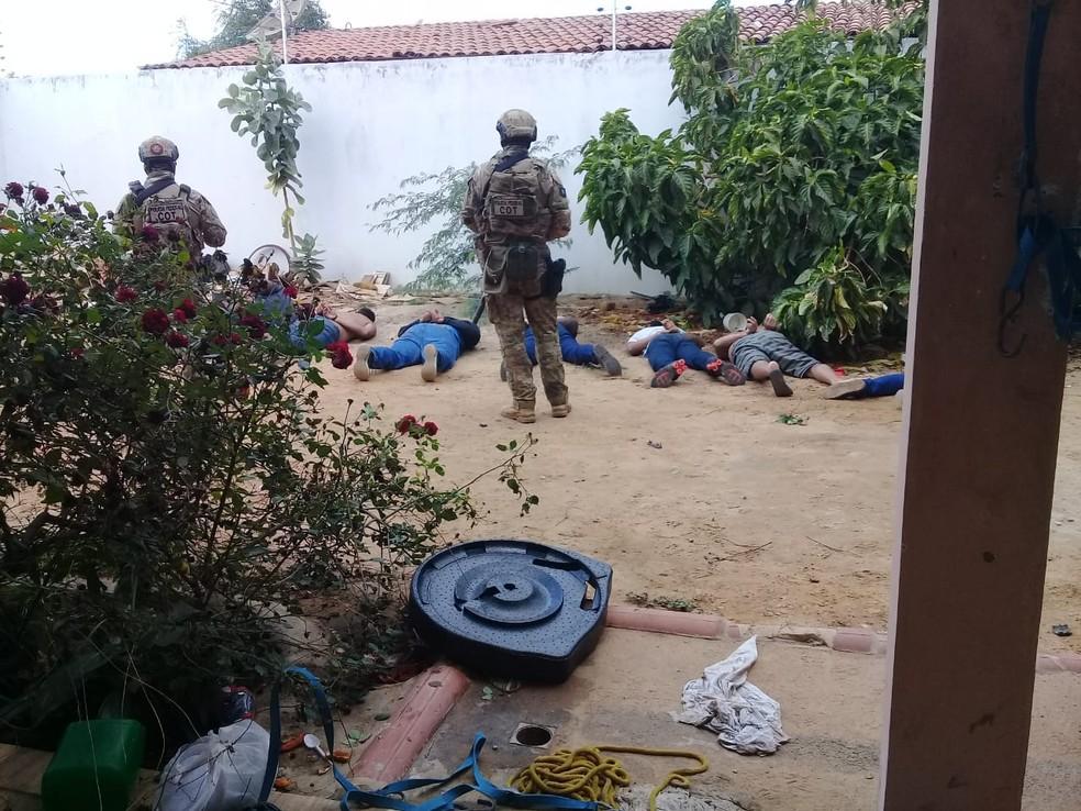 Integrantes presos na Operação Capitá — Foto: Divulgação/Polícia Federal
