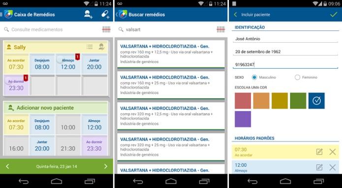 Caixa de Remédios permite controlar horários de medicamentos dos filhos (Foto: Reprodução/Google Play Store)