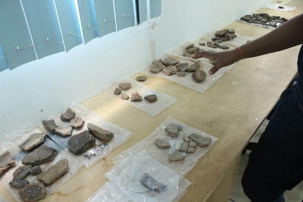 Acervo do Museu da Memória Rondoniense conta com peças cerâmicas de mais de 3 mil anos. — Foto: Pedro Bentes/G1