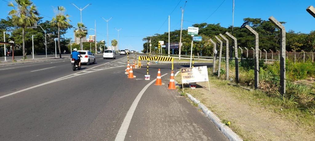 Alça da Ponte JK, de acesso à Zona Leste de Teresina, é interditada para obras de drenagem