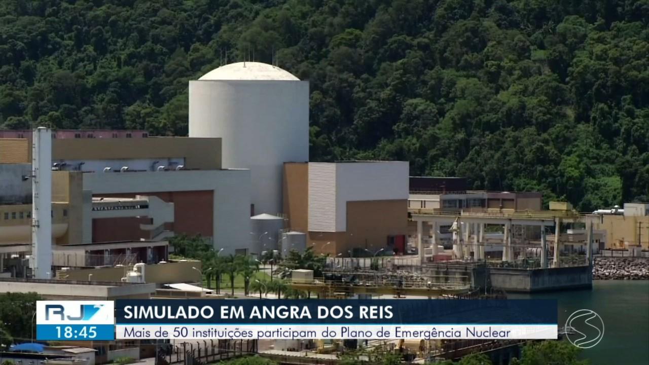 Simulado orienta como agir em caso de emergência nas usinas nucleares de Angra dos Reis