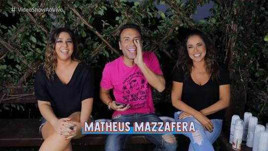 Daniela Mercury relembra 1º beijo em Malu Verçosa durante brincadeira com Matheus Mazzafera