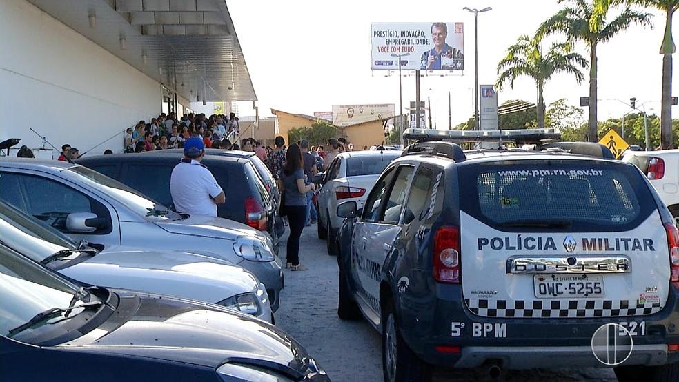 PM promete garantir a tranquilidade dos candidatos (Foto: Inter TV Cabugi/Reprodução)