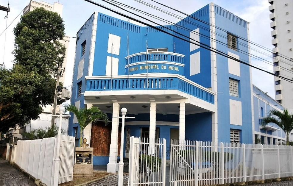 Sede da Câmara Municipal de Natal — Foto: Elpídio Júnior/CMN