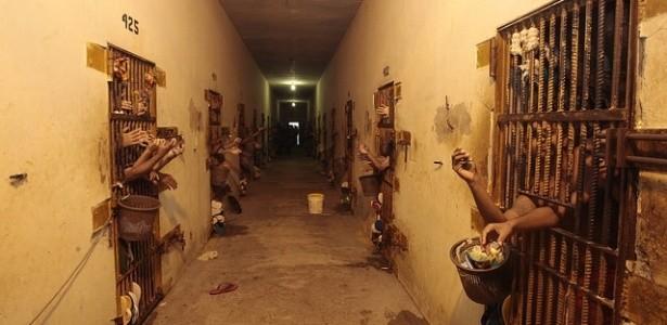 Interior da Unidade Penitenciária Doutor Francisco D'Oliveira Conde, no Acre (Foto: Luiz Silveira / Agência CNJ)
