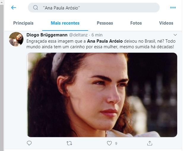 Tweets sobre a volta de Ana Paula Arósio (Foto: Reprodução/Twitter)