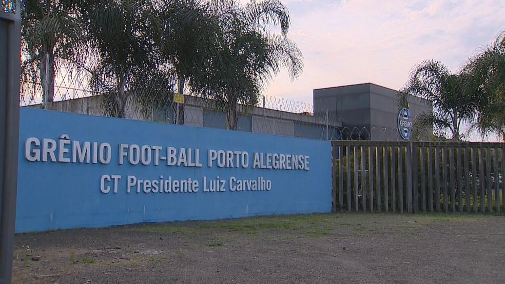 Grêmio treino fechado — Foto: Reprodução/RBS TV