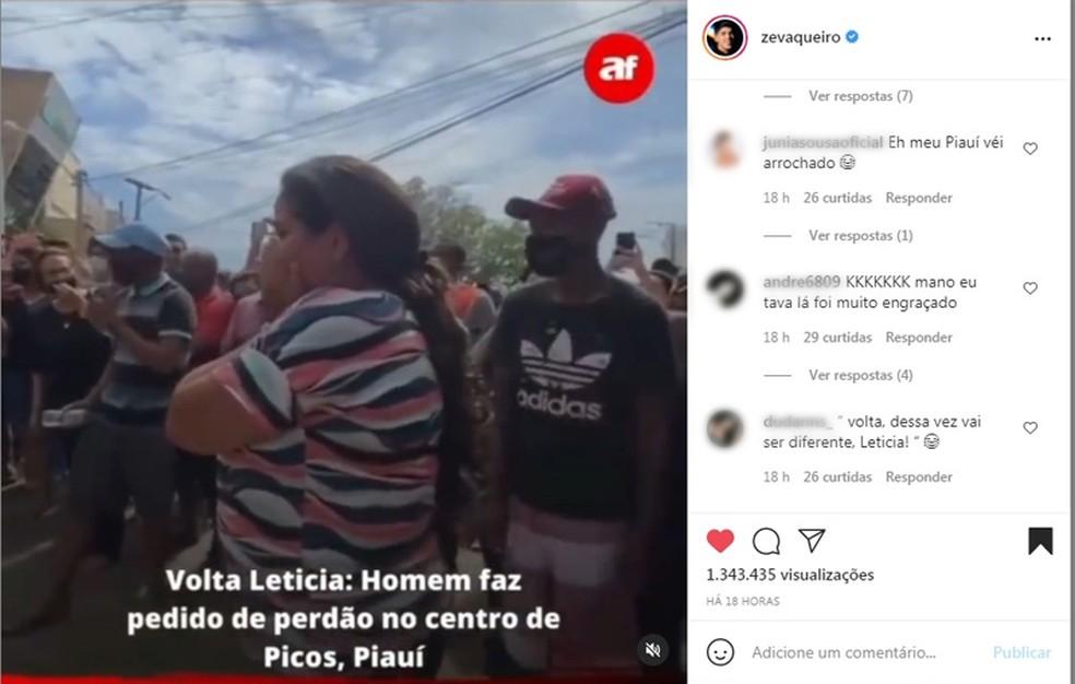 Cantor Zé Vaqueiro repercutiu história nas redes sociais — Foto: Reprodução/Redes sociais