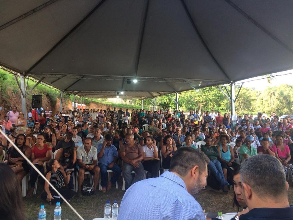 Reunião tem representantes da Vale, Ministério Público e comunidade de Brumadinho nesta terça-feira (5) — Foto: G1/Tahiane Stochero