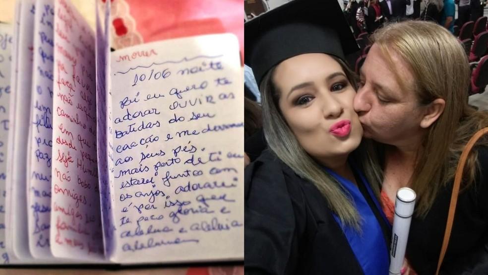 Filha encontra diário da mãe escrito durante internação em hospital de Sorocaba  — Foto: Arquivo Pessoal