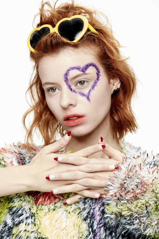 Maquiagem de Carnaval: corações! (Foto:  Ariana Lima e Gabriel Bertoncel)