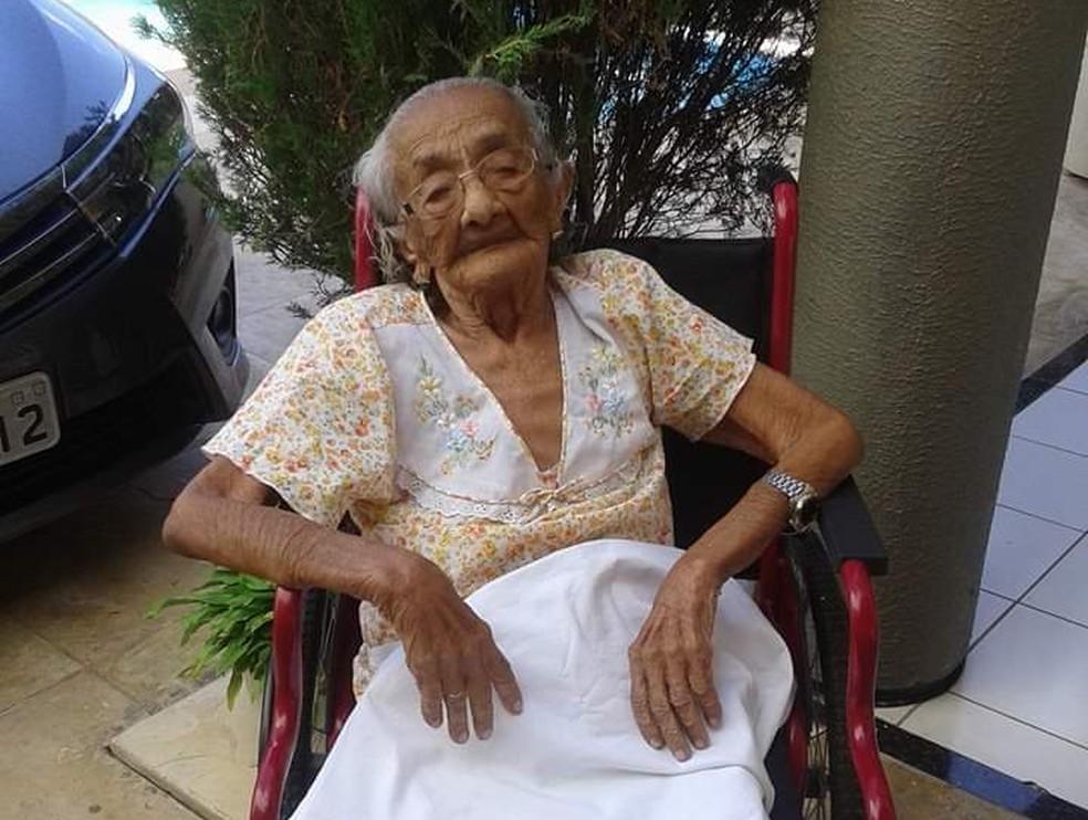 Cearense era a pessoa mais velha do Brasil e a terceira do mundo — Foto: Arquivo Pessoal