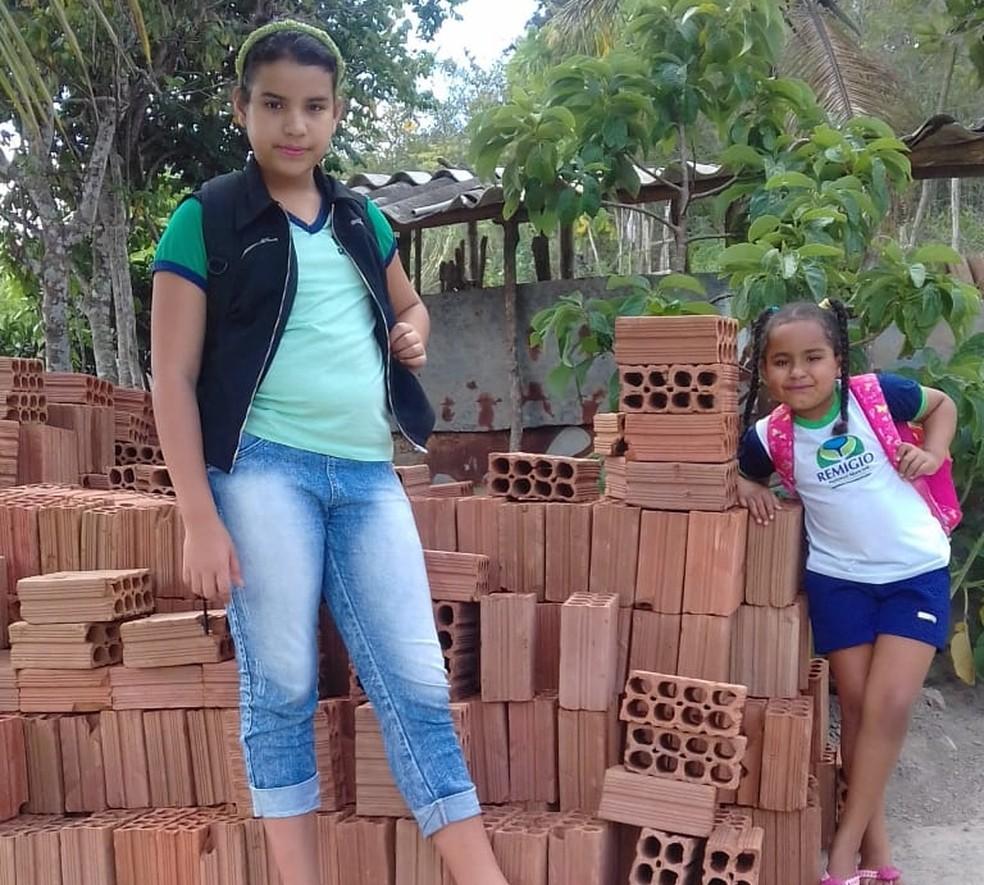 A família também recebeu doações de pessoas que se comoveram com o apelo da garota — Foto: Jacimere Carvalho da Silva/Arquivo pessoal