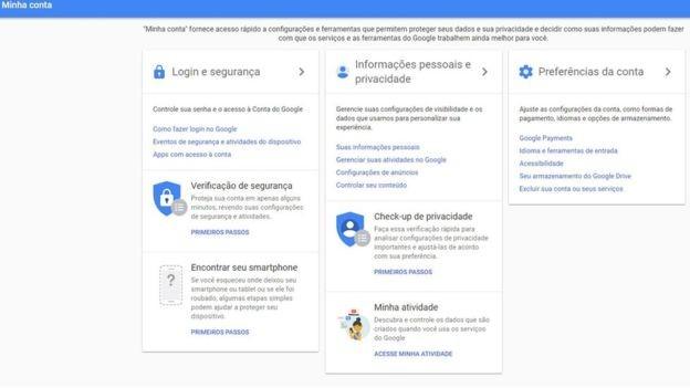 As configurações de privacidade permitem que o usuário impeça seus dados de serem repassados a anunciantes (Foto: Reprodução/via BBC News Brasil)