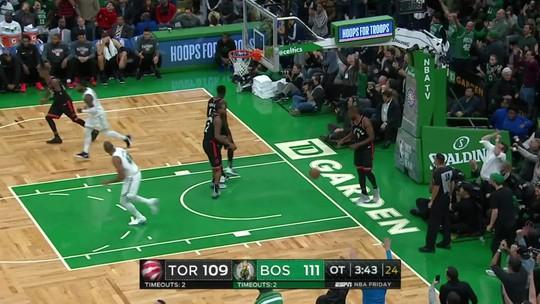 Rodada da NBA tem Kyrie em noite de Larry Bird, cesta do meio da quadra e ilustres na torcida