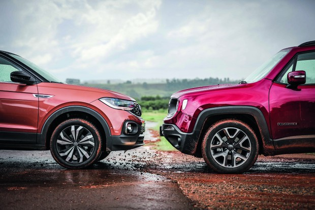 Jeep Renegade vs VW T-Cross (Foto: Rafael Munhoz)