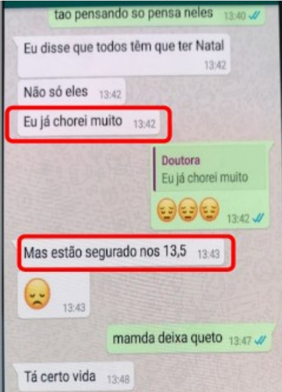 Polícia Civil conseguiu ver mensagens no aparelho celular da advogada.  — Foto: Polícia Civil do Ceará