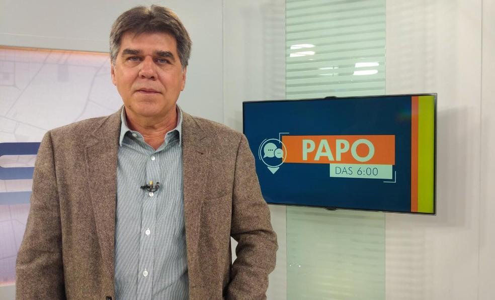 Celso Martins foi entrevistado no Papo das Seis, do Bom Dia MS desta terça-feira (30).  — Foto: Átilla Eugênio/TV Morena