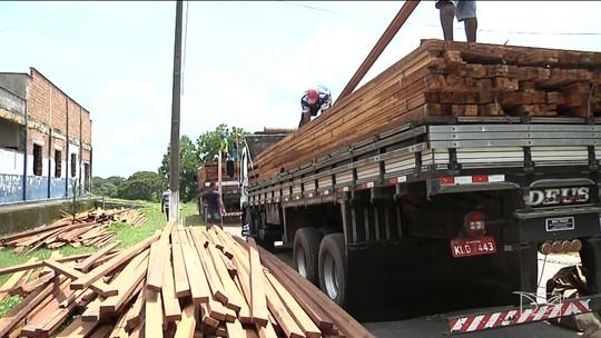 Operação apreende transporte ilegal de madeira em Santa Inês