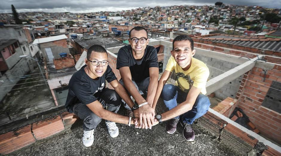 Eduardo Lyra (centro) escolheu Gouveia (à esq.) e Jorge na primeira convocatória para novos parceiros  (Foto: Estadão Conteúdo)