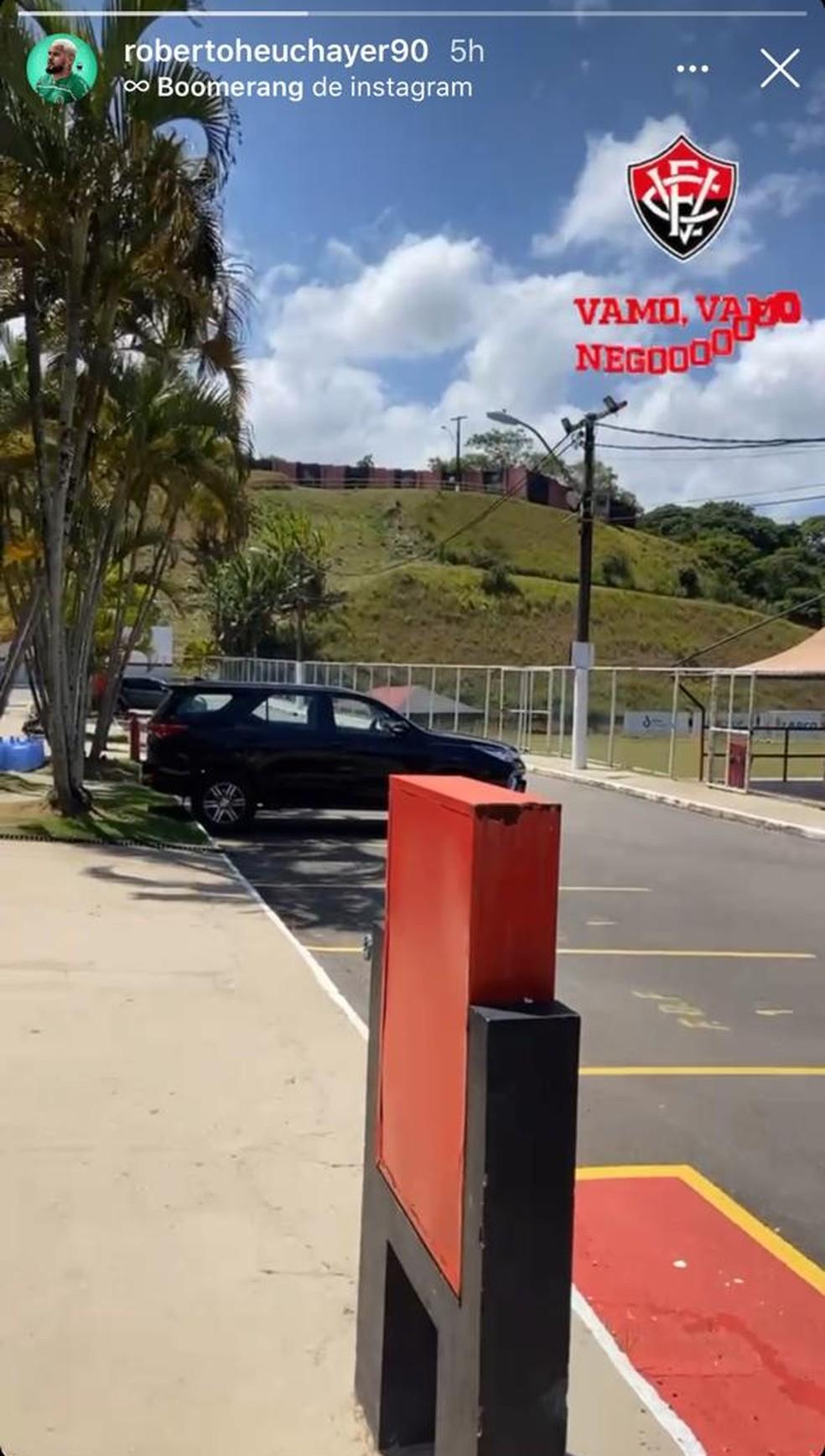 Roberto posta foto na Toca do Leão — Foto: Reprodução