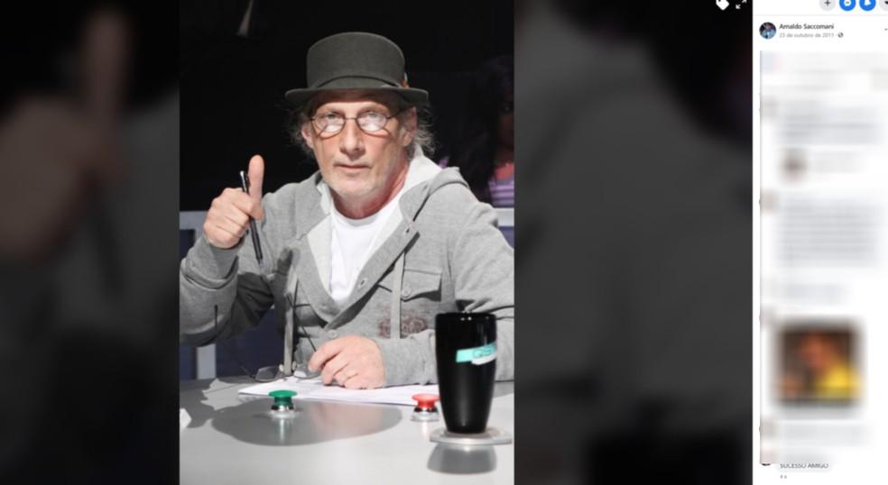 Arnaldo Saccomani morreu em Indaiatuba aos 71 anos — Foto: Reprodução/Facebook