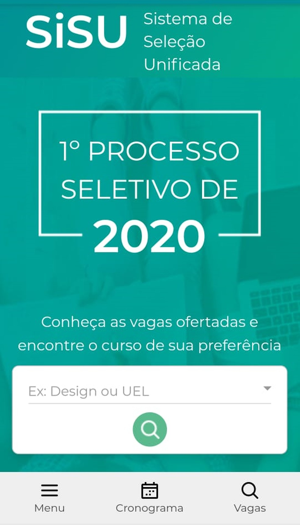 Inscrição do Sisu 2020 poderá ser feita por dispositivos móveis — Foto: Reprodução/Sisu