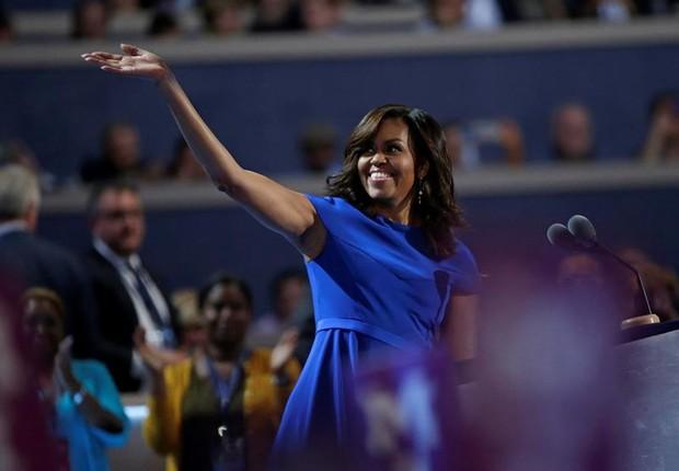 Michelle Obama durante discurso na convenção democrata (Foto: EFE)