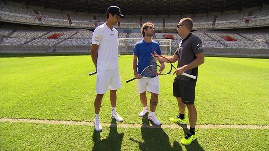 Com Tóquio na cabeça, Marcelo Melo e Bruno Soares jogam tênis no Mineirão