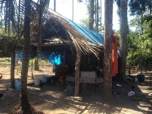 Casa onde crime aconteceu fica a 90 km de Porto Velho  (Foto: Ísis Capistrano/ G1)