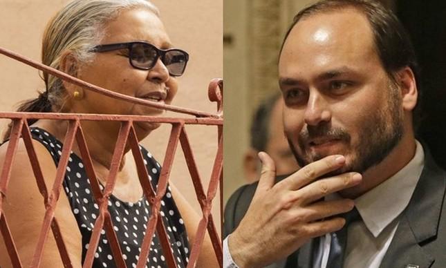 Diva da Cruz Martins e Carlos Bolsonaro