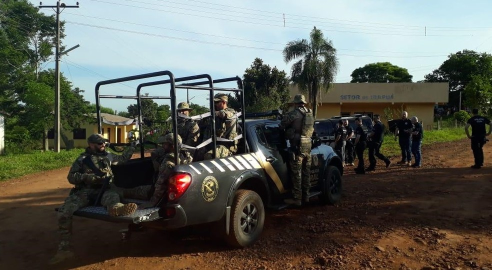Segundo PF, crimes foram motivados por disputa pela liderança das terras indígenas — Foto: Divulgação/PF