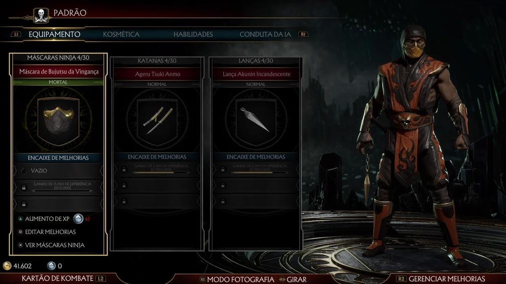 Sistema de personalização de Mortal Kombat 11 — Foto: Divulgação